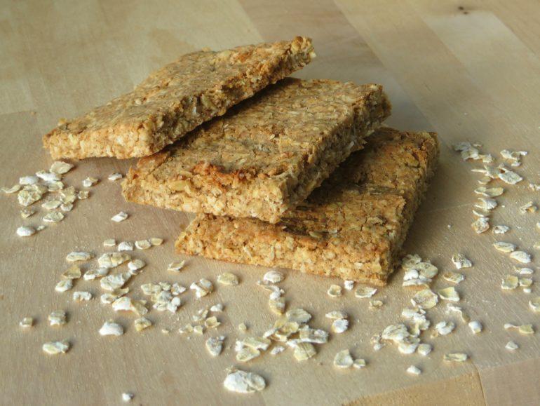 Homemade protein bars vegan plant-based oat