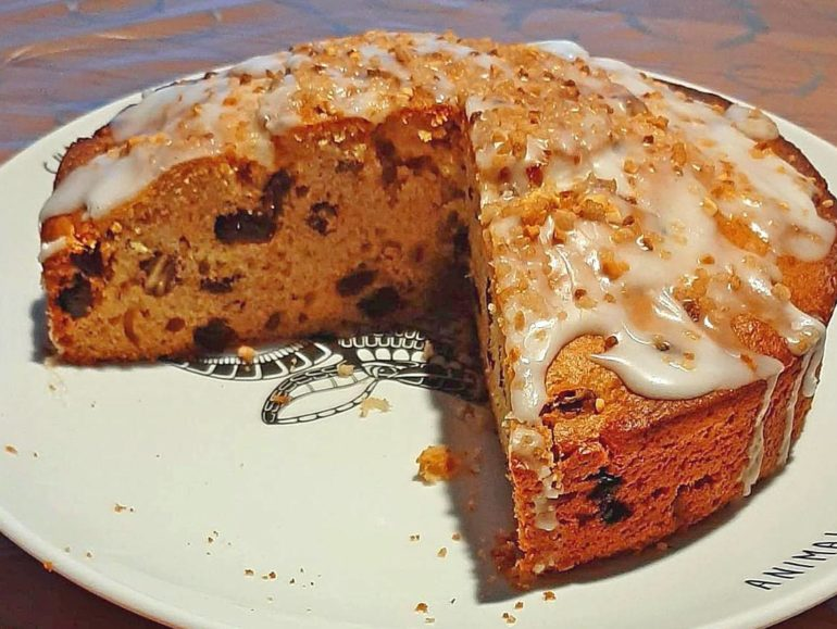 Apple walnut cake vegan recipe