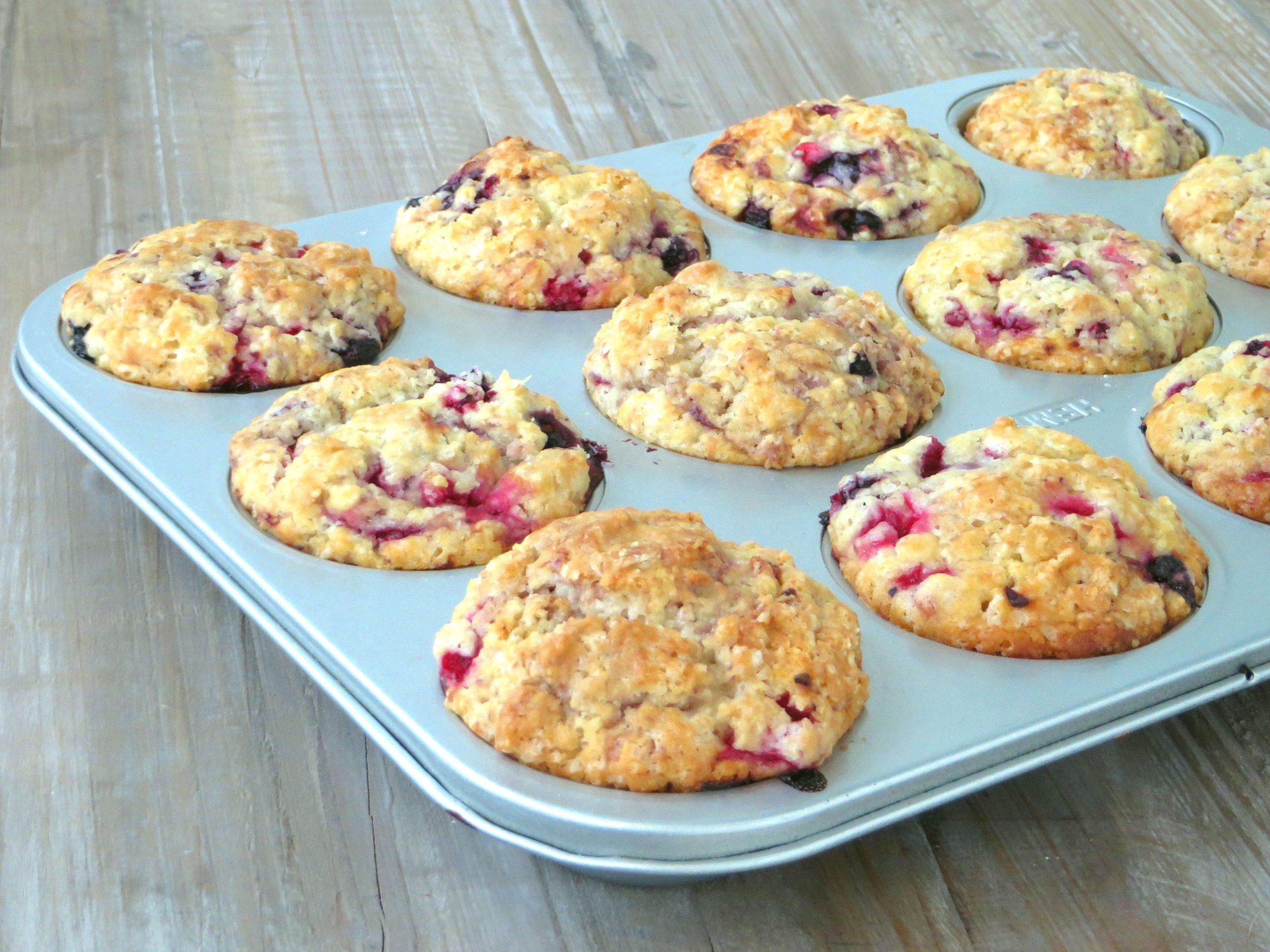 vegan berry muffins workshop